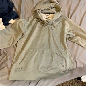 GRAY NIKE HOODIE THERMA - FIT SIZE:M